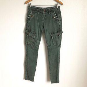 Free people distressed utility skinny jean.